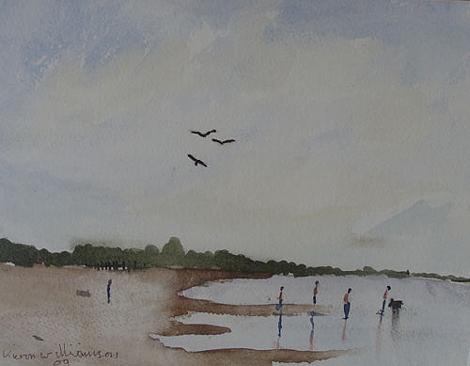 La obra 'No.4 Holkham Beach' de Kieron Williamson. Ver su galería