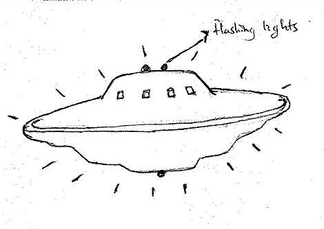 Dibujo de un supuesto ovni avistado en Reino Unido. | Reuter