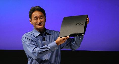 El presidente de Sony Entertainment, Kaz Hirai, presenta la PS3 Slim. | P. R.