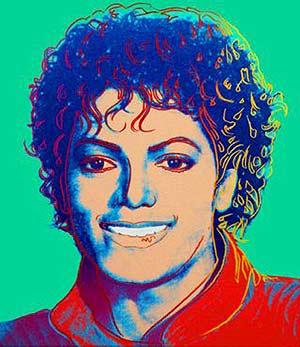 Retrato de Michael Jackson firmado por Andy Warhol (Foto: Reuters).