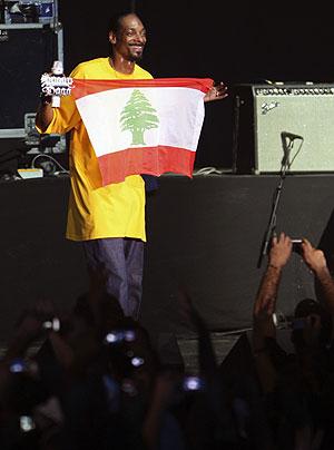 Snoop Dogg durante el concierto que ofreció en Líbano. (Foto: Reuters)