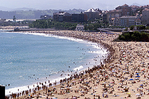 Playa de El Sardinero, en Santander   Javier Cotera