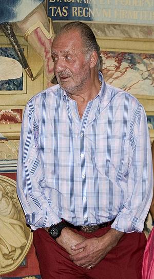 El rey, este domingo en Palma de lo más seductor. (Foto: Efe)