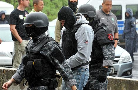 Uno de los acusados de un asesinato contra gitanos. | Efe