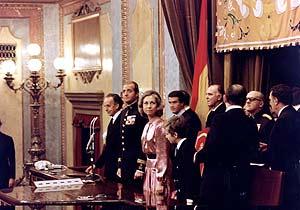 Los reyes de España, el día de la firma de la Constitución (Foto: Congreso de los Diputados).