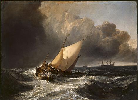 'Barcos holandeses en una galerna' (1801), por Joseph Mallord William Turner.