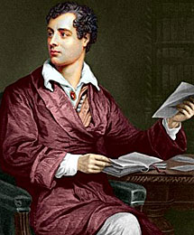 Retrato de Lord Byron.