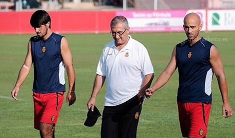 Manzano con China y Nunes   RCD Mallorca