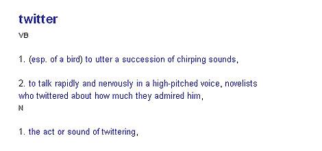 Twitter como nuevo término del diccionario Collins