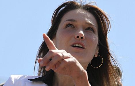 Carla Bruni, durante un acto oficial. | Reuters