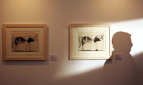 Algunas de las obras de la exposición de Picasso. | Ical