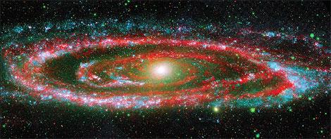 La galaxia Andrómeda.   NASA/Univ. Arizona/Galex Science