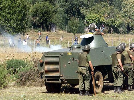 Enfrentamientos entre las Fuerzas de Seguridad y mapuches. | Azkintuwe.