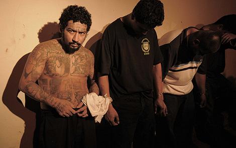 El salvadoreño Saúl Turcios, uno de los líderes de la Mara Salvatrucha, detenido en Nicaragua.   Efe
