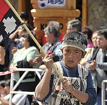 Un niño mapuche, en las protestas. | La Mañana de Neuquén