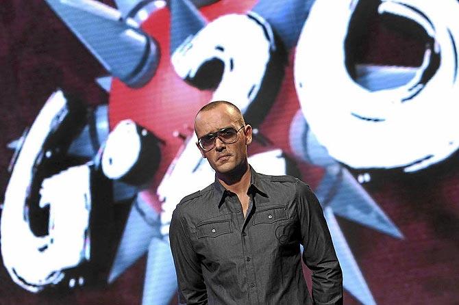 El publicista Risto Mejide como presentador de 'G-20'. (Foto: D. Legal)