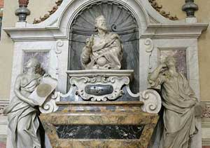 Tumba de Galileo en Florencia. (Reuters).