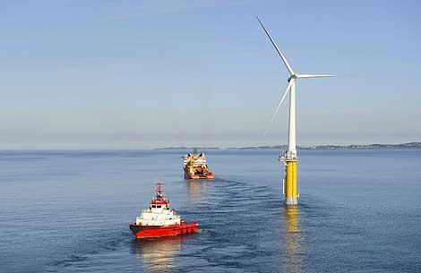 El molino eólico flotante situado en Noruega. | Øyvind Hagen / StatoilHydro