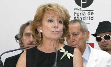 Aguirre durante un acto de la Cibeles Madrid Fashion Week. | Efe