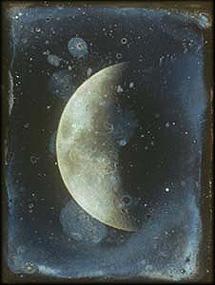 Daguerrotipo de la Luna obtenido por John Whipple en 1851. | Harvard College Observatory