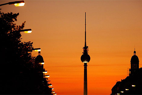 La torre de la televisión berlinesa. | Afp