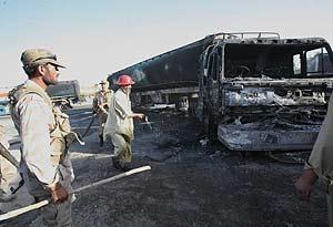 Imagen de un atentado en Kabul.