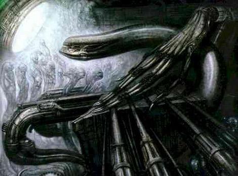 Dibujo utilizado en el rodaje de 'Alien 3'.