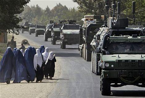 Patrulla alemana y belga de la ISAF en Kunduz. | AP