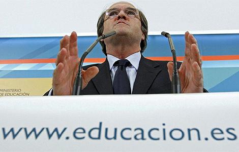 Ángel Gabilondo durante una comparecencia. | El Mundo