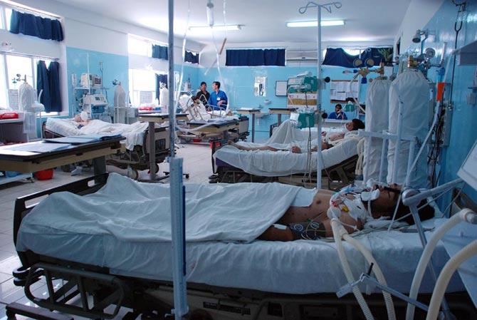 La Unidad de Cuidados Intensivos del hospital de Emergency en Kabul.| Mónica Bernabé
