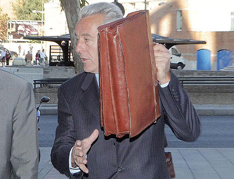 Juan Jesús Sánchez Manzano, a su llegada al juzgado. | Óscar Monzón