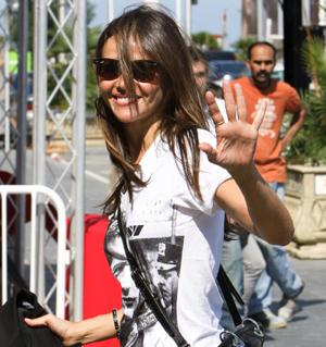 La actriz Goya Toledo a su llegada a San Sebastián. | Efe
