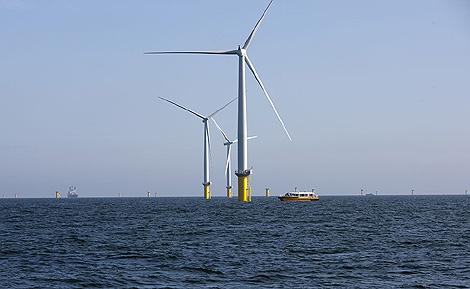 Imagen del mayor parque eólico marino. | Dong Energy