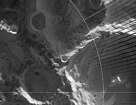 El cráter Faustini, en el polo sur de la Luna. | AP/NASA
