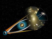 Efecto de lente gravitatoria. | NASA, STScl