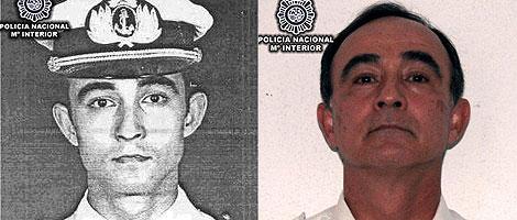 Julio Alberto Poch, antes y después de su detención.