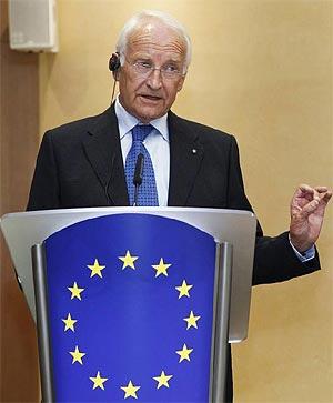 Edmund Stoiber, ex primer ministro de Baviera. | F. Lenoir