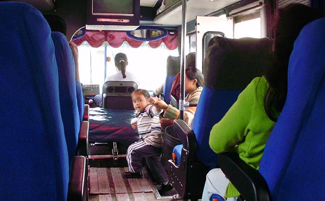 Interior de un autobus ecuatoriano. | Waldo Fernández