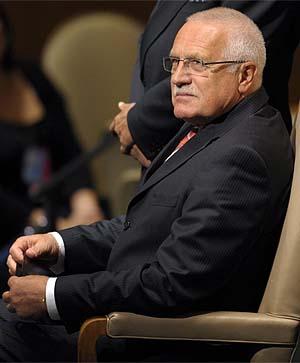 El presidente de la República Checa, Vaclav Klaus. | Efe