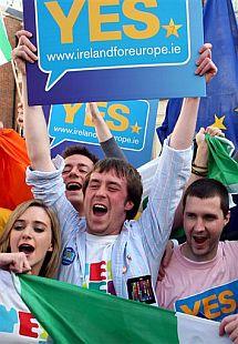 Partidarios del 'sí', en Dublín. | Ap