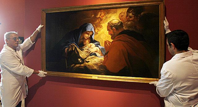 La 'Natividad' de Luca Giordano, uno de los cuadros que ya están en el Museo de Bellas Artes. | Conchitina