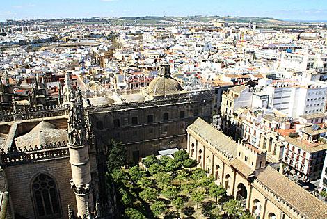 Foto del caserío de Sevilla facilitada por la World Monuments Fund.