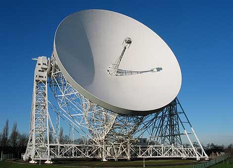 El radiotelescopio Lovell de 74 m. | Observatorio de Jodrell Bank.