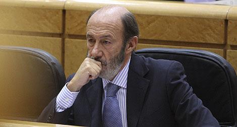 El ministro del Interior, Alfredo Pérez Rubalcaba. | Gonzalo Arroyo