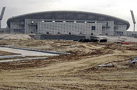 Imagen del estadio olímpico de La Peineta y los terrenos donde iría la Villa Olímpica. (EM)