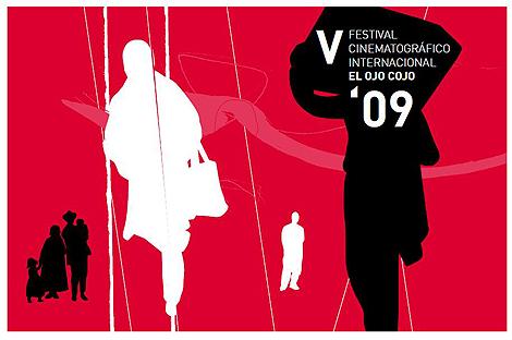 Cartel de la quinta edición del Festival Internacional de Cine El Ojo Cojo.