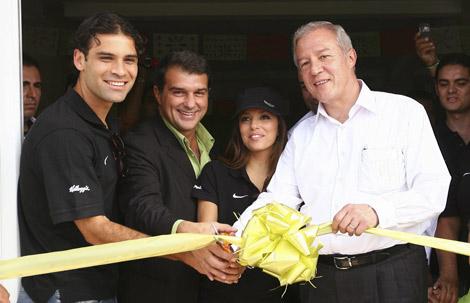 Laporta, con Márquez, esta semana en México. | Efe