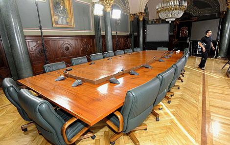 Salón de la Delegación del Gobierno de Canarias donde se reunirá el Consejo de Ministros. Efe