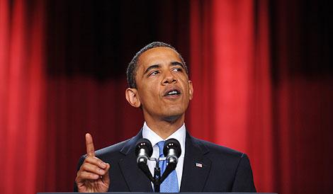 Barack Obama pronuncia su discurso al mundo musulmán en El Cairo, en junio. | AFP