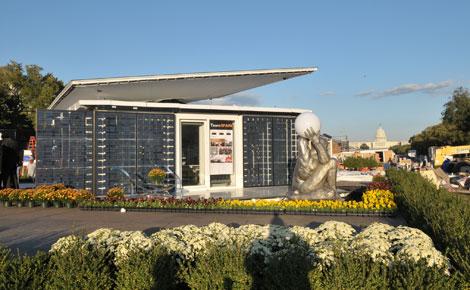 La casa solar diseñada por la Universidad Politécnica de Madrid, en Washington. | Eddie Arrossi